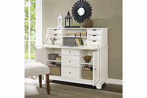 White Secretary Desk Hutch Hostgarcium White Secretary Desk Design