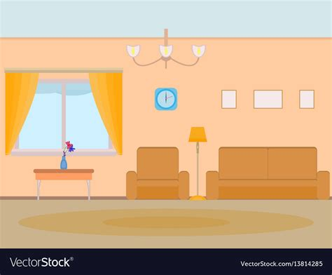 cartoon background living room royalty  vector image
