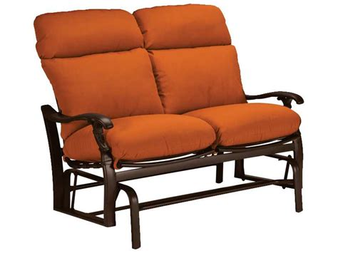 Patio Loveseat Glider Cushions by Tropitone Ravello Cushion Aluminum Glider Loveseat 660916