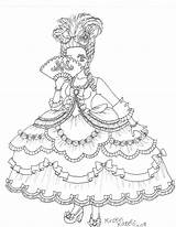 Marie Antoinette Coloring Drawing Louis Coloriage Printable Etoile Deviantart Ohbq Cartoon Peabody Mr Sheets Hernandez Embroidery Uploaded sketch template