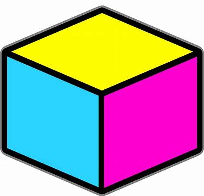 Box Clip Clipart Cube Boxes Yellow Objects