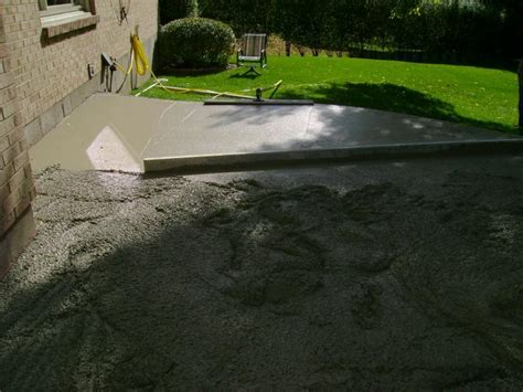 Walkers Concrete LLC   Stamped Concrete Patio Start to