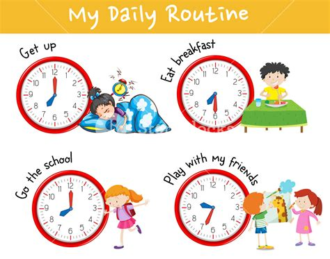 daily routine clipart pictures   cliparts