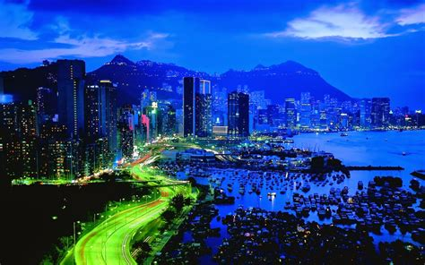 hd city skyline panorama scene wallpaper