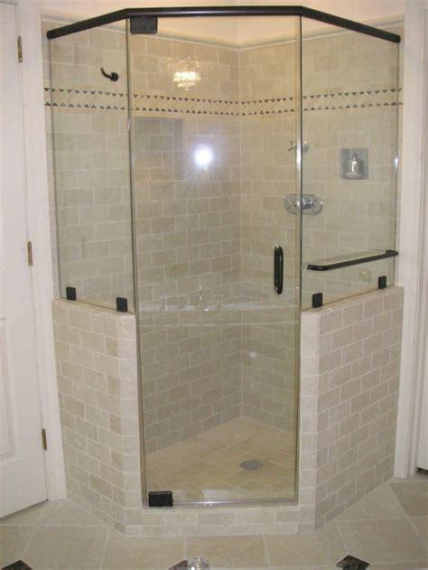 corner showers ideas  pinterest glass shower