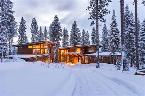 cabins floor modernist refuge of wood steel and glass in martis