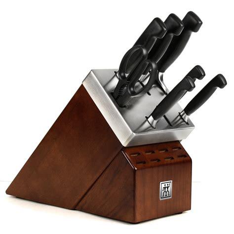 zwilling ja henckels  star  sharpening knife block set  piece cutlery