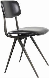 Chaise Vintage Cuir : chaises vintage aspect cuir arthur lot de 2 noir ~ Teatrodelosmanantiales.com Idées de Décoration