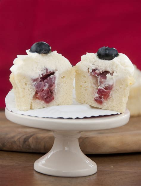 strawberry filled patriotic cupcakes wishes  dishes