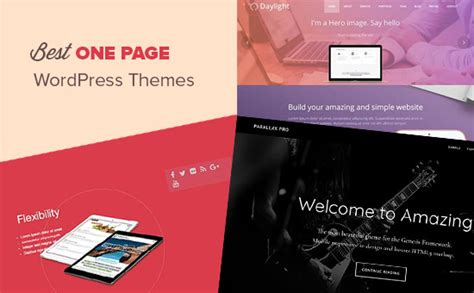 Wp One Page Themes 25 Best One Page Themes 2017