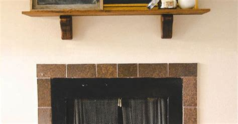 How To Make A Simple Mantel From A Wood Shelf