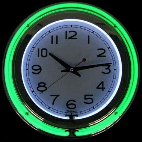 light up wall clock ebay