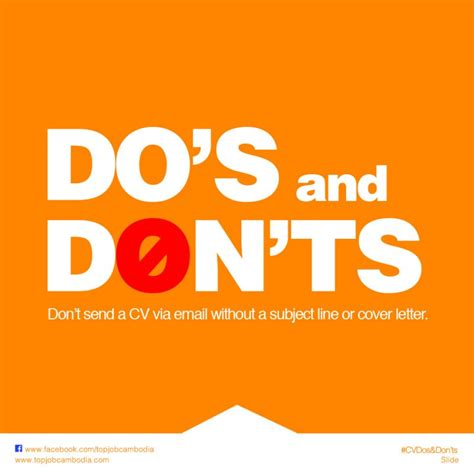 Don T Send A Resume by Don T Send A Cv Via Email Without A Subject Line And A Cover Letter