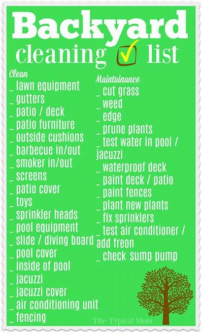 Clean Backyard Cleaning Checklist Outside Temeculablogs Spring