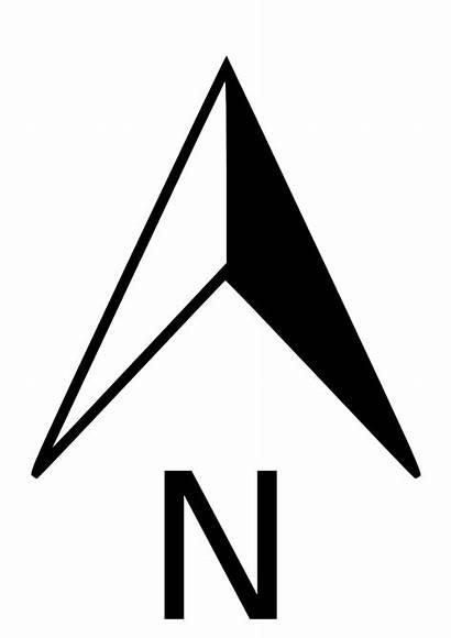 Arrow North Symbol Compass Dwg Clipart Simple