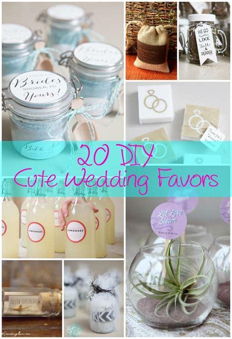 20 diy cute wedding favors diy ideas wedding favors