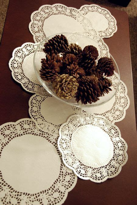 paper doily table runner  cent store craft dollar tree