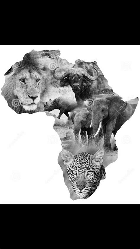 Africa big 5 tattoo design | Africa tattoos, African