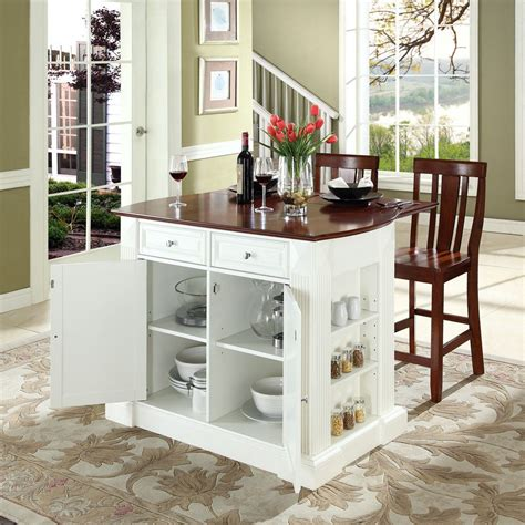 Portable Breakfast Bar Table Kitchen Cart Island Stools by Furniture White Open Shelf Storage And Cool Espresso