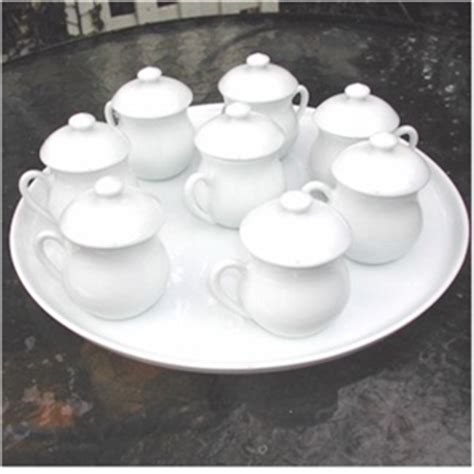 all white 8 pots de creme with 12in tray buy gourmetsleuth