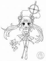 Chibi Coloring Pages Yampuff Sailor Chibis Lineart Anime Kawaii Stuff Kimono Ivy Seward Commission Adult Mud Bath sketch template
