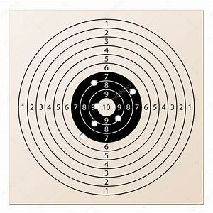 Paper Rifle Target With Bullet Holes  U2014 Stock Vector