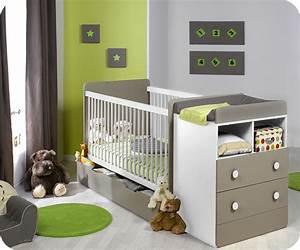 Lit évolutif Bébé : lit b b volutif malte couleur lin et blanc achat ~ Melissatoandfro.com Idées de Décoration