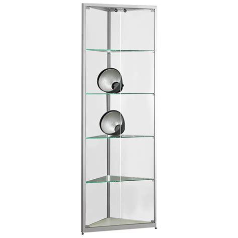 glas schiebetür abschliessbar eckvitrine glasvitrine standvitrine sammlervitrine eco 500