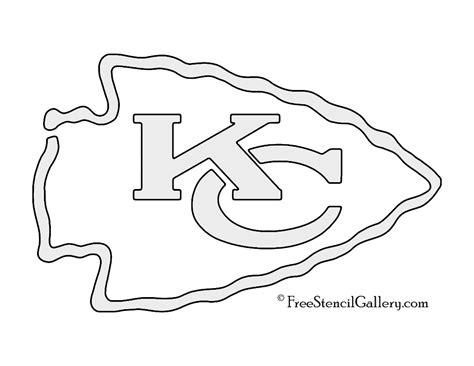 Steelers Pumpkin Carving Patterns Free by Nfl Kansas City Chiefs Stencil Free Stencil Gallery