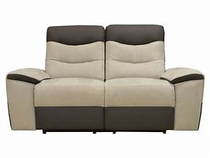 canape 3 places 2 relax manuel walter polyurethane tissu With canapé cuir relax 3 places conforama