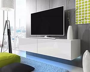 Lowboard 200 Cm Weiß : tv schrank lowboard h ngeboard simple mit led blau wei matt wei hochglanz 200 cm g nstig ~ Whattoseeinmadrid.com Haus und Dekorationen
