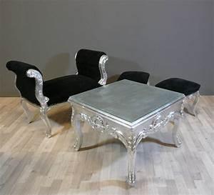Peinture Argentée Pour Bois : peinture argentee pour bois 0 table basse baroque argent233e meuble baroque digpres ~ Teatrodelosmanantiales.com Idées de Décoration