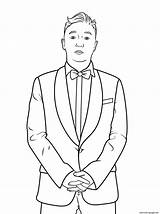 Coloring Psy Celebrity Pages Printable Gangnam Famous Print Template Categories sketch template