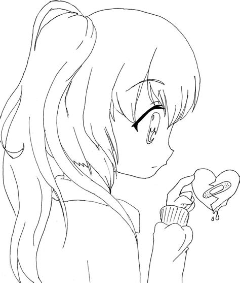 cute anime girl coloring pages gianfredanet