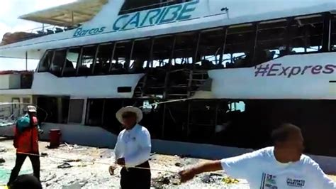 Ferry Boat Bomb In Mexico by Playa Explosion At Least 18 Injured In Strong