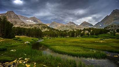 Mountain Valley River Nature Landscape California Wallpapers