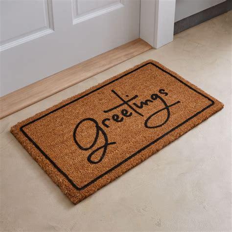 doormat or door mat greetings brown doormat reviews crate and barrel