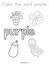 Coloring Purple Word Noodle Outline Twisty Built California Usa Twistynoodle Tracing sketch template
