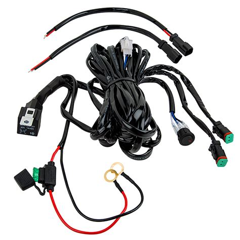 Led Light Wiring Harness With Switch Relay Dual