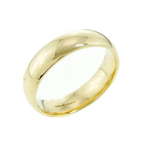 brown newirth 9ct yellow gold 6mm court shaped wedding