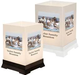a custom family reunion tabletop lantern decoration