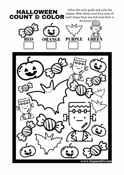 Halloween Spy Activity Printable Count Worksheet