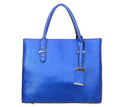 Animal Skin Faux Leather Handbag Lt1110 37588 Blue