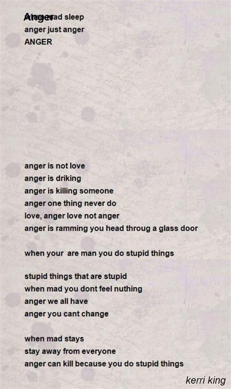anger poem  kerri king poem hunter