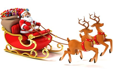 santa and reindeer clipart clipart suggest