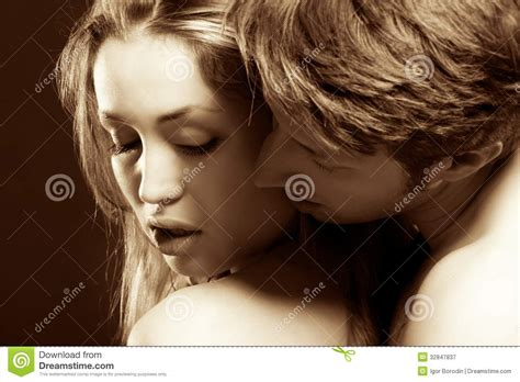 Portrait Of A Passionate Couple Stock Image Image Of