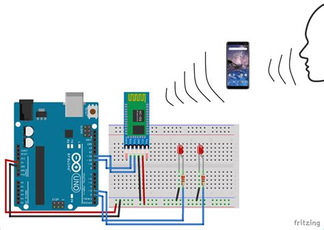 Voice Controlled Leds Circuit Diagram Using Arduino