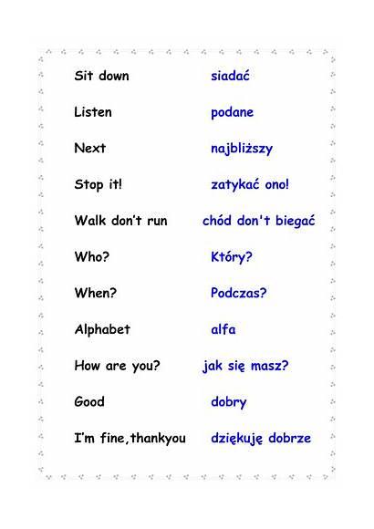 Polish Phrases English Height