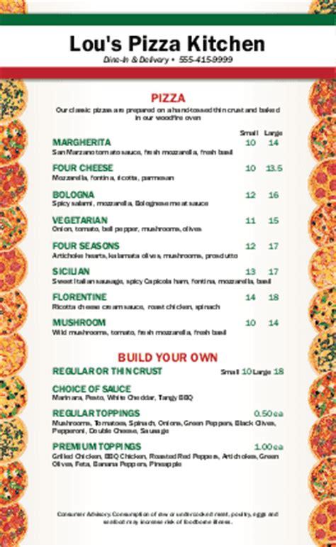Pizza Menu Template Word by City Pizza Menu Pizza Menus