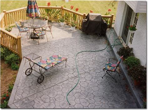 concrete patio sted concrete patio in random